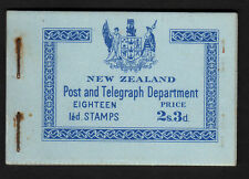 NEW ZEALAND 1938 2/3d COMPLETE BOOKLET SB19 WITH INVERTED PANES.