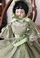 Vintage Southern Belle China Doll #5Low Brow Porcelain Head. Hands & Feet. EC!