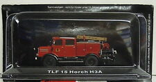 Fire brigade TLF 15 , Horch H3A , 1:72 , Atlas, DDR ,Remaining stock, New