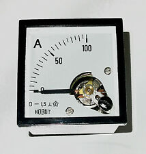 Ammeter 0-100amps Shunt Operated  DIN48  Industrial Domestic Auto Marine  DCA100