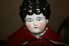 """ANTIQUE PET NAME AGNES 20"""" CHINA doll HERTWIG/ Butler Bros GERMANY wool jacket"""
