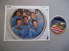 STS-51I Crew Photo & Patch - Not Autographed