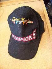 SB Super Bowl XXXII 32 Champions black baseball cap hat no Denver Broncos patch