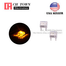 100pcs Flat Top Piranha Super Flux Yellow Light LED Diodes Ultra Bright USA