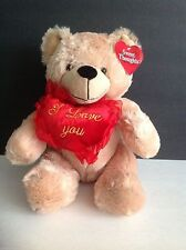 Dan Dee Collectors Choice SOFT Brown Bear with Red I Love You Heart