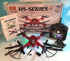 Holy Stone HS200W FPV Quadcopter Drone RTF Altitude Hold Gravity Sensor Red