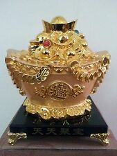 """6"""" H Chinese Feng Shui Money Wealth Rich Coin  Statue"""