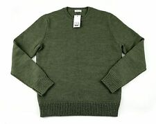 Men's COUNTRY CLUB Army Green Wool Pullover Jumper Crewneck Sweater 50 M/L NWT