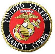 USMC MARINE CORPS MARINES LARGE QUALITY EMBROIDERED PATCH 12 INCHES