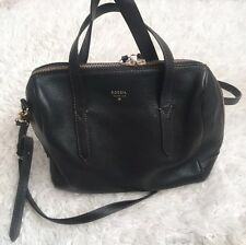 Fossil Sydney Satchel Black Cross body Handbag Purse