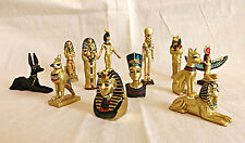 Ancient Egyptian Mini Figurines~Sphinx~Tutankhamun~Nefertiti~Isis Full Set Of 12
