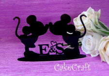 Acrylic initial Mickey Minnie Mouse wedding engagement table decorations