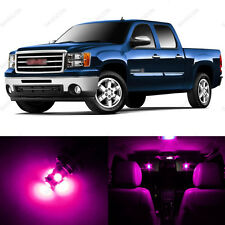 8 x Pink/Purple LED Interior Light Package For 2007 - 2014 GMC Sierra