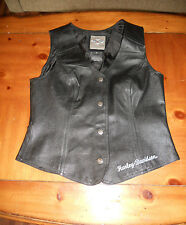 Women's S Harley Davidson Embroider Leather  Gently Used FREE SHIPPING