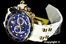 Invicta Men's 48mm Pro Diver Scuba Swiss Chronograph White Strap Watch - 20288