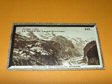 CHROMO PHOTO CHOCOLAT SUCHARD 1934 EUROPE SUISSE SCHWEIZ SVIZZERA LAUTERBRUNNEN