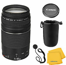 Canon EF 75-300mm f/4-5.6 III Telephoto Zoom Lens for SLR Cameras with pouch kit