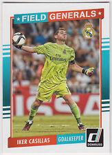 IKER CASILLAS 2015 Donruss Soccer Field Generals #6 Real Madrid