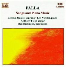 Falla: Songs and Piano Music (CD, May-2000, Naxos (Distributor)) (cd5691)