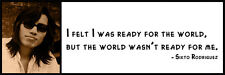 Wall Quote - Sixto Rodriguez - I felt I was ready for the world, but the world w