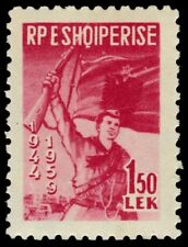 ALBANIA 548 (Mi582A) - Freedom Fighter and Flags (pa84307)