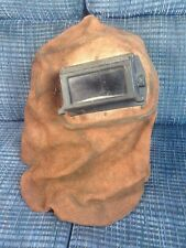 VINTAGE ANTIQUE WELDING GOGGLES Leather Hood STEAMPUNK. Steam Punk Retro