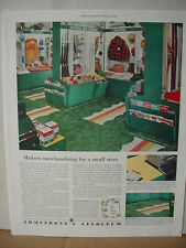 1953 Armstrong's Linoleum Flooring Small Store Sports Vintage Print Ad 10084
