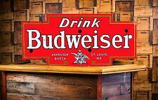 Original Budweiser Anheuser Busch  Porcelain Neon Beer Sign WOW!!