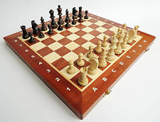 BRAND NEW WEGIEL TOURNAMENT NR 4 WOODEN CHESS SET 40cm WITH WEIGHTED PIECES