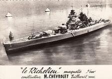 TAILLECOURT Le Richelieu maquette 1/100ème constructeur M. Chevrolet