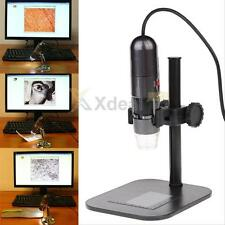 USB 2.0 8LED 1000X  Digital Microscope Endoscope Magnifier Video Camera w/ Stand