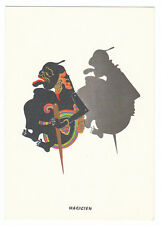Carte postale publicitaire Laboratoires FRAYSSE : marionnette de Bali Magicien