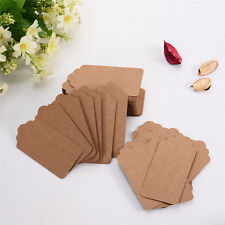 100pcs DIY Blank Kraft Paper Labels Wedding Party Gift Hanging Tags Home Decor
