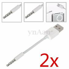 2PCS USB CHARGER DATA SYNC CABLE LEAD FOR APPLE IPOD SHUFFLE 1ST 2ND GENERATION