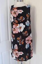 size 10 black floral print pipped dress from dorothy perkins brand new