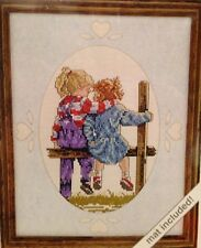 """JCA Love Notes Cross Stitch Kit #08304 """"Best Friends"""" NIP"""