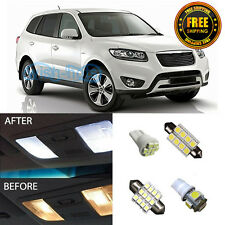 10 Pieces Premium White Interior LED Package For 2007-2012 Hyundai Santa FE
