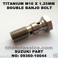 GSF1200 TITANIUM M10 x 1.25 double banjo brake bolt