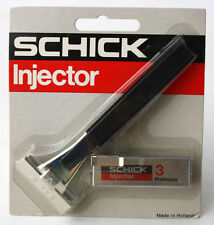 RARE VINTAGE 80'S SCHICK INJECTOR RAZOR + 3 BLADES MADE IN HOLLAND NEW SEALED !