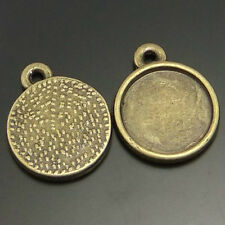 40pcs Vintage Bronze Round Cameo Setting Cabochon Tray Inner Size:15*15mm 02108