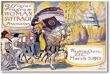 Woman Suffrage Procession - Washington DC - NEW Vintage Reprint POSTER