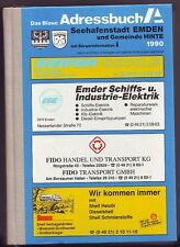 das blaue Adressbuch Emden  Hinte  1990  Einwohnerbuch Genealogie  Ostfriesland
