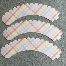 Pack Of 12 Checked Style Cupcake Cake Case Wrappers Decoration Patterned