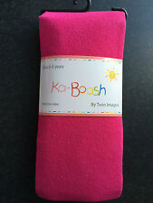 BNWT Ka-Boosh Brand Girls Age 6-8 Years Hot Pink Thick Footed Style Tights