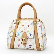 Auth Louis Vuitton Priscilla Monogram Multicolor Hand Bag M40096 10100428