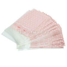 50x Self Adhesive Candy Bag Cellophane Xmas Party Gift Cookies Candies Bags Pink