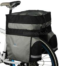 ROSWHEEL 60L Bicycle Double Side Rear Rack Tail Seat Trunk Bag Pannier M1Y4