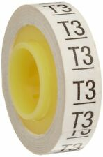 "3M Scotch Code Wire Marker Tape Refill Roll SDR-T3, Printed with ""T3"" (Pack o..."