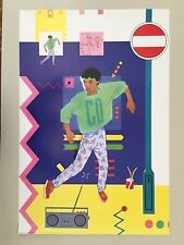 BODY POPPING(BREAK DANCE) DESIGNED BY ANDY LESLIE,RARE AUTHENTIC 1985 POSTER