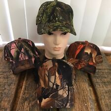 4 PC ASSORTED HARDWOOD CAMO Baseball Cap Hats Hunting Outdoor HT-752-4 -TH